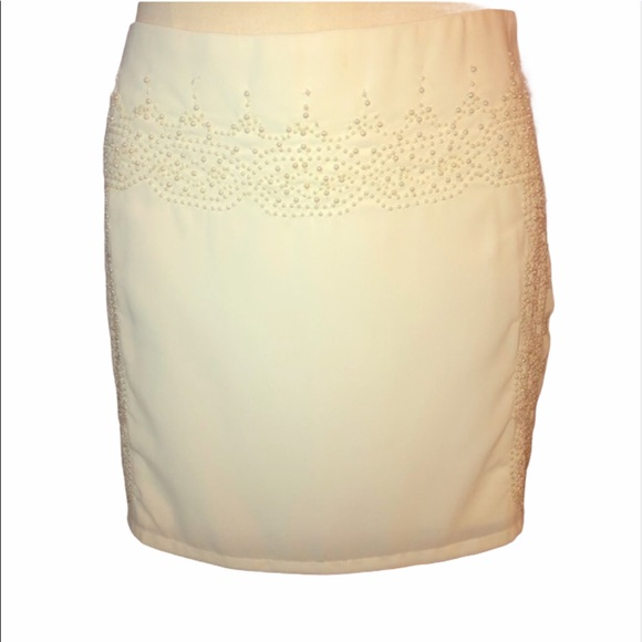 C CUBUS AS PEARL ACCENT MINI SKIRT WHITE S…